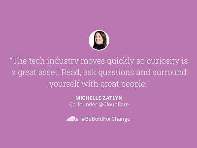 @Cloudflare celebrates #InternationalWomensDay quote twitter social tech women beboldforchange international womens day