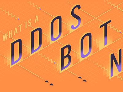 What is a DDoS Botnet? typography social media graphic design illustration