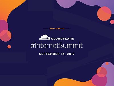 Cloudflare's Internet Summit lava branding events