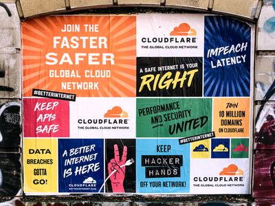 2018 Cloudflare Campaign campaigns advertising campaign billboard wildposting bus wrap subway ooh out of home branding graphic design advertising