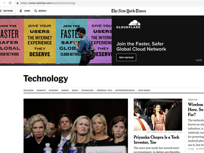 New York Times takeover branding graphic design design marketing banner ad banner advertising digital