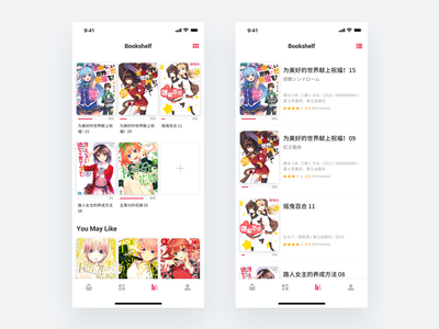UX | Reading Progress comic books manga anime ratings progressbar create new userexperiance ued uidesign uxdesign bookshelf booklist book app navigation bar read more grid design grid layout list view reading list reading app