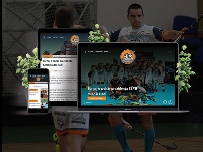 FBC Grasshoppers AC UNIZA Žilina web ux website concept programming webdesign floorball