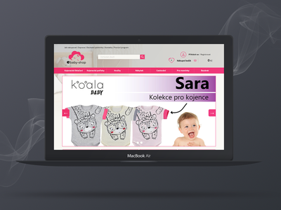 eBaby Shop concept website concept ui shop design concept