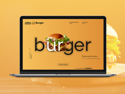 Studie JabluBurger website concept ux ui design
