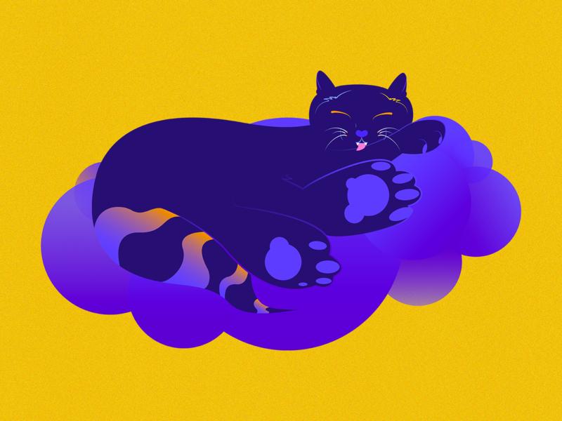 chester_pants cat illustrator cc procreate digital illustration