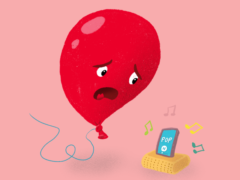 What music to balloons hate? procreate illustration