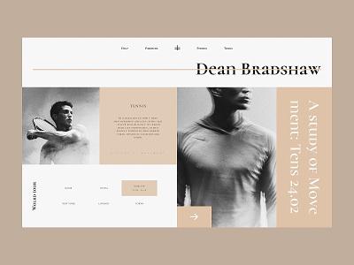 Dean Bradshaw concept digital website design typography ui ux web