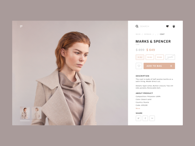 Marks & Spencer ecommerce clothes online store digital web website concept typography ux ui