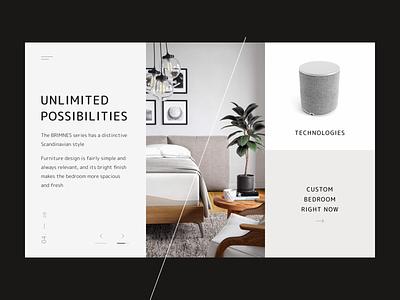 Furniture furniture digital web concept design typography ux ui