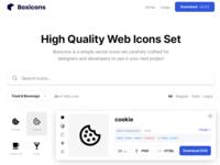 Boxicons - 1462 free icon set ui icon app iconset icons freebie