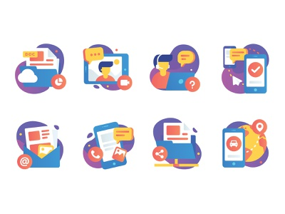 Gradient Icon design ui icon illustration