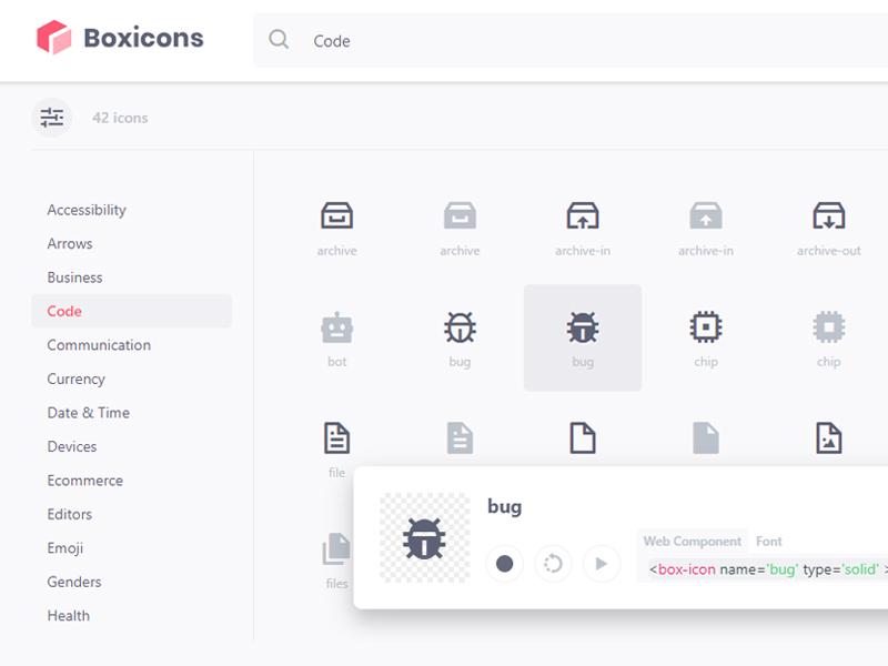 Boxicons - 798 free icon set icon app ui freebie icon set icon