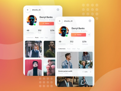 Daily UI #006 app concept concept app userinterface user account user profile mobile ui