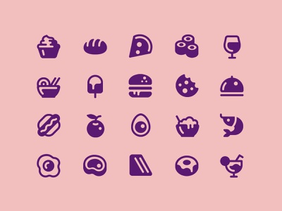 Foodicons drink food illustration icon set
