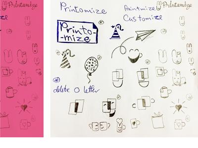 Printomize Logo Crafting sketch logo