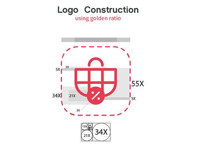 Vatreena Branding discounts shopping shop logo golden ratio logo golden ratio golden section illustration logo designer app logo