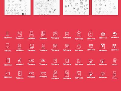 Vatreena logo Exploration bag discount basket shopping cart golden ratio logo designer app logo