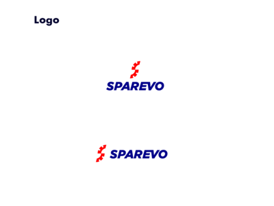 Sparevo Logo Design blue red identity s logo s tyre logo designer app logo