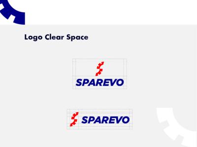 Vatreena logo Clear Space blue red identity s logo s tyre logo designer app logo