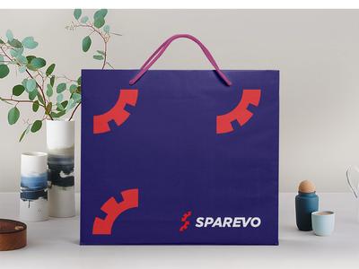Sparevo Identity blue red identity s logo s tyre logo designer app logo