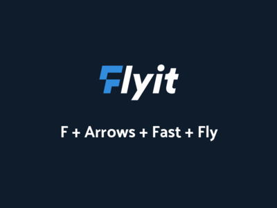 Flyit Logo Idea شعار مصمم شعارات لوقو لوجو arrow bird fly f logo blue logo