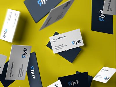 Flyit Stationery شعار مصمم شعارات لوقو لوجو arrow bird fly f logo blue logo