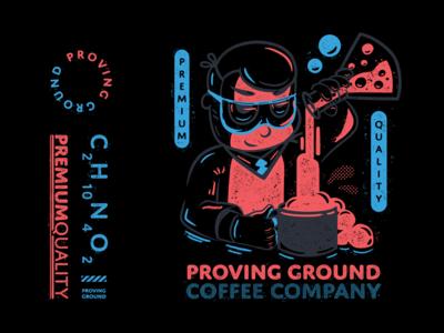 Premium Quality Caffeine - Proving Ground T-shirt Design
