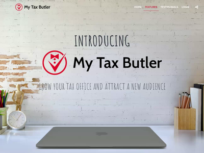 Parallax Scrolling Tax Website