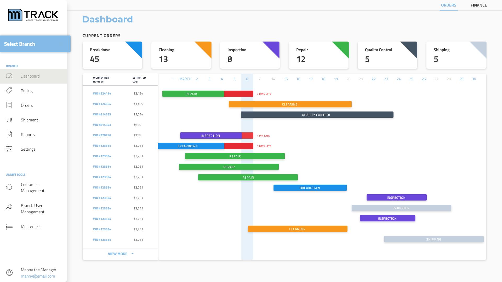 Dashboard   calendar   days   4