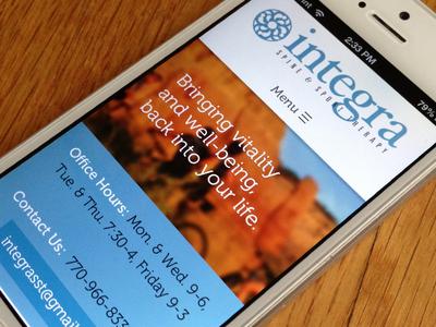 Integra Site Mobile View
