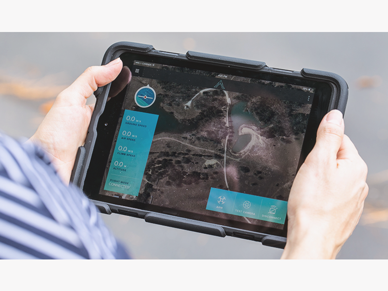 Aerotestra App UI product stats interface drone map design app ux ipad apple ios ui