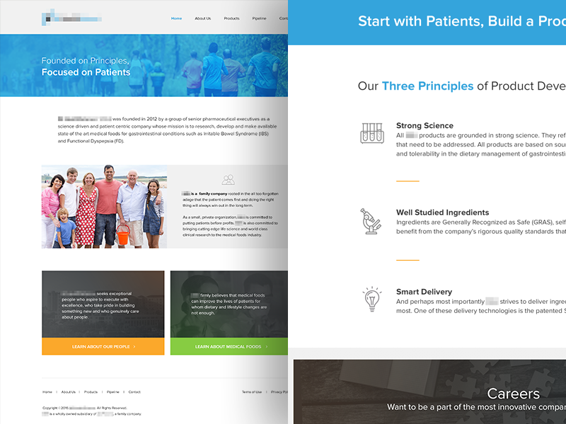 Medical Corp Website medical corporate clean ux ui landing page website web design