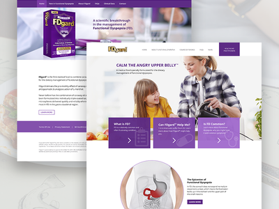 Medical food product website purple health medical whitespace ux ui product web landing page simple minimal hero