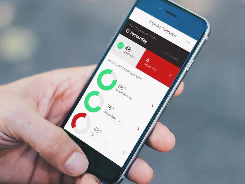 Enterprise Audit App interface statistics safety mobile dashboard enterprise design product app audit ui ux