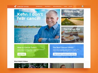 Cancer Tutor Website - Home