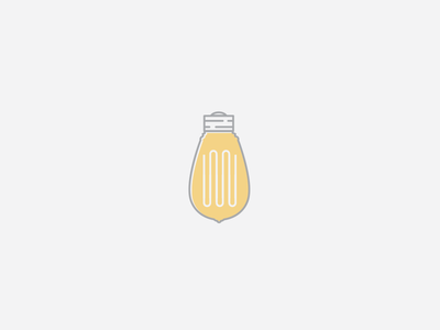 Edison Bulb logo design bulb branding illustration retro mark icon