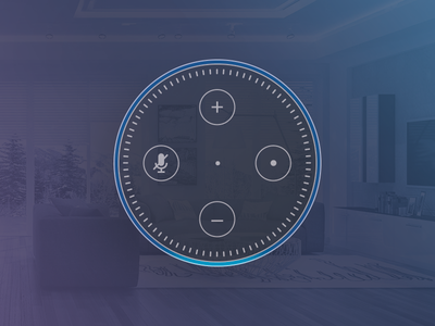 Echo Dot gradient amazon echo illustration outline