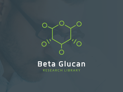 Beta Glucan Research Library Branding minimal science natural green thin lines medical healthcare health logotype mark logo branding