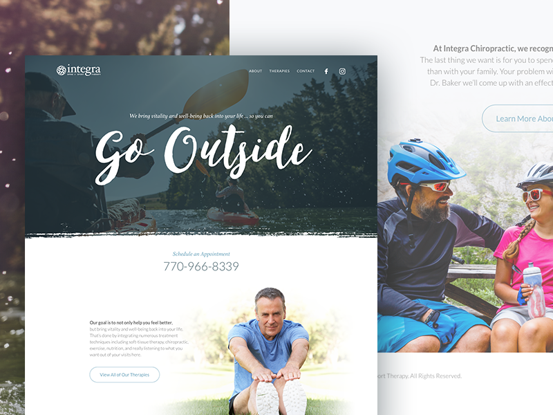 Integra new homepage