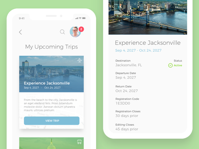 Trips user interface trip booking productdesign app product design ux ui
