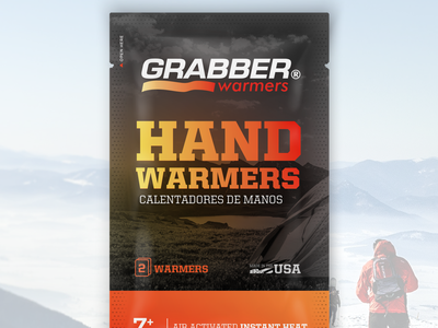 Grabber Warmers adventure outdoors warm packaging packagedesign branding design