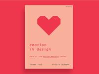 Emotion in Design: event poster