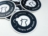 Coyote Bomb Squad Stickers