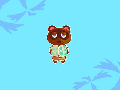 Tom Nook | Animal Crossing design vector art photoshop flat design sticker illustration illustrator vector nintendo animal