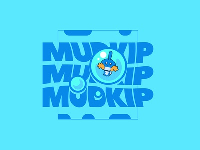 Pokemon - Mudkip logo pokemon nintendo flat design graphicdesign vector photoshop illustrator