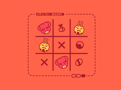Elekid & Magby | Pokemon Tic-Tac-Toe tic-tac-toe magby elekid creature illustration graphic design pokemon flat design design vector photoshop illustrator