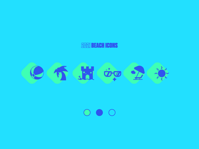Summer Beach Icons / Weekly Warmup #002 icon set umbrella ui palm tree beach icons summer illustrator
