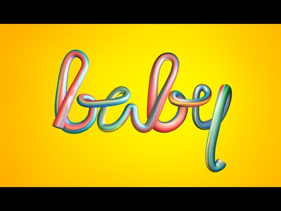 baby - colorful 3d lettering colorful baby lettering 3d