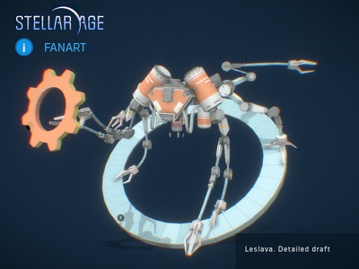 Stellar Age fanart 3d draft fanart stellar age mechanical robot space